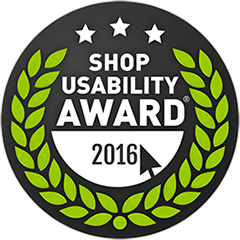 Shop Usability Award Winner 2016